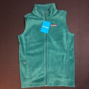 NWT! COLUMBIA KIDS UNISEX FLEECE VEST SIZE MEDIUM